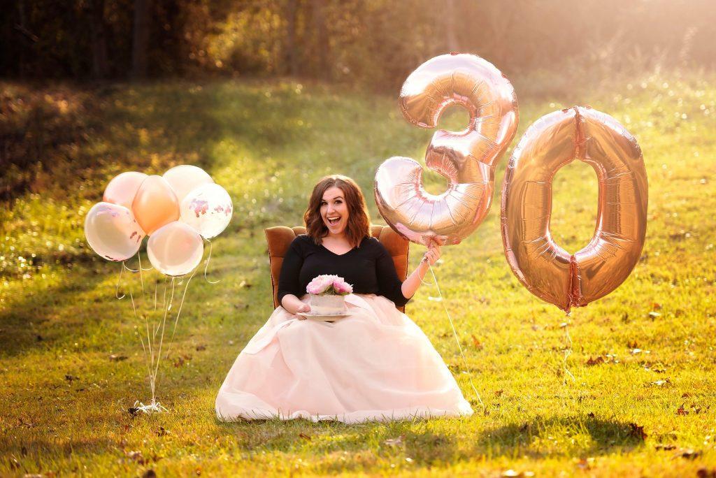 Rose Gold 30th Birthday Photoshoot
