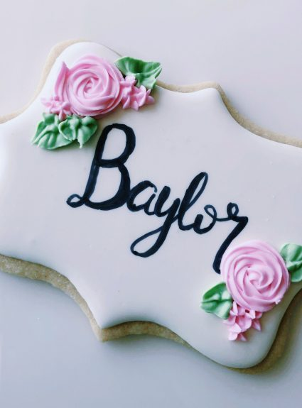 Woodsy Cookies for Baby Baylor!
