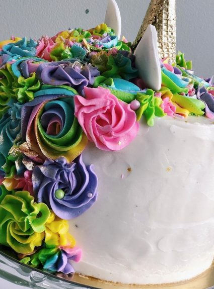 A Rainbow Unicorn Cake