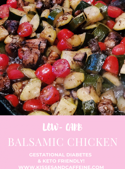 Balsamic Chicken Skillet (Low Carb- and DELICIOUS!)