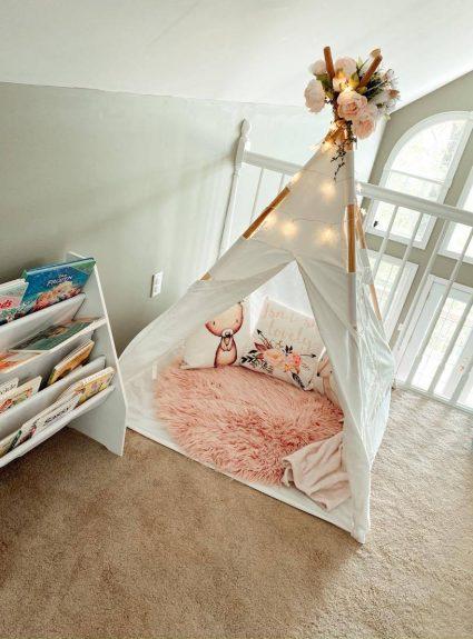 Addie & Lillie's Boho Playroom