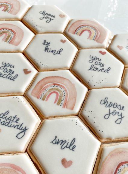 Boho Rainbow Sugar Cookies