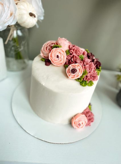"A Fun Floral ""Just Because"" Cake!"
