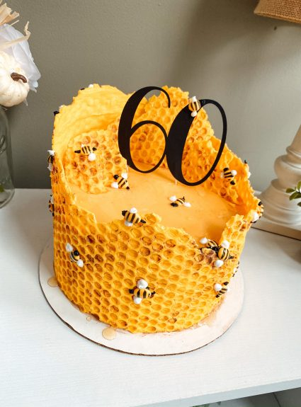 A Busy Bee 60th Birthday Cake!