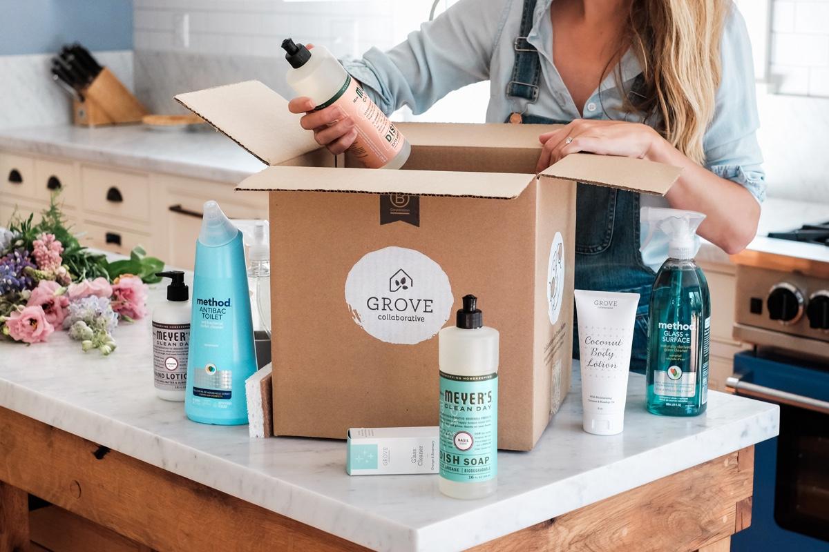 Grove Collaborative Shipment baby shower gift