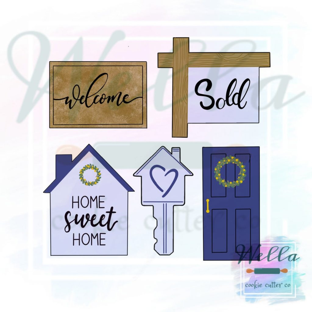 House realtor cookie cutter set