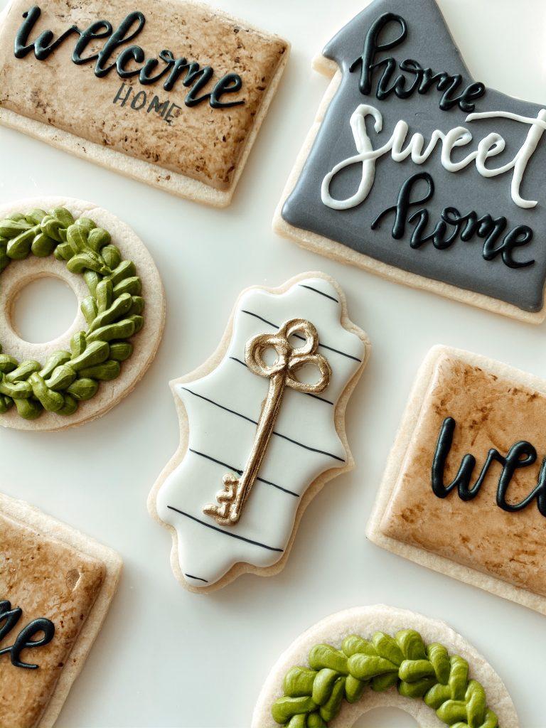 Shiplap farmhouse style sugar cookie