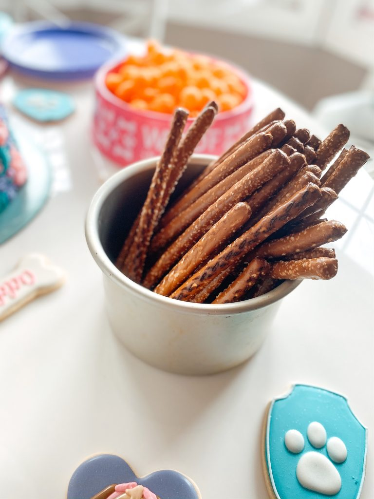 "Pretzel rod ""fetching sticks"" Paw Patrol Party food snack"
