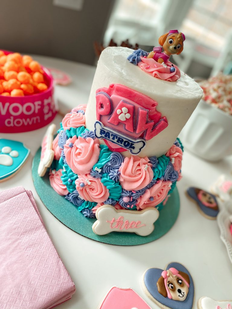 A girly Paw patrol Birthday Cake