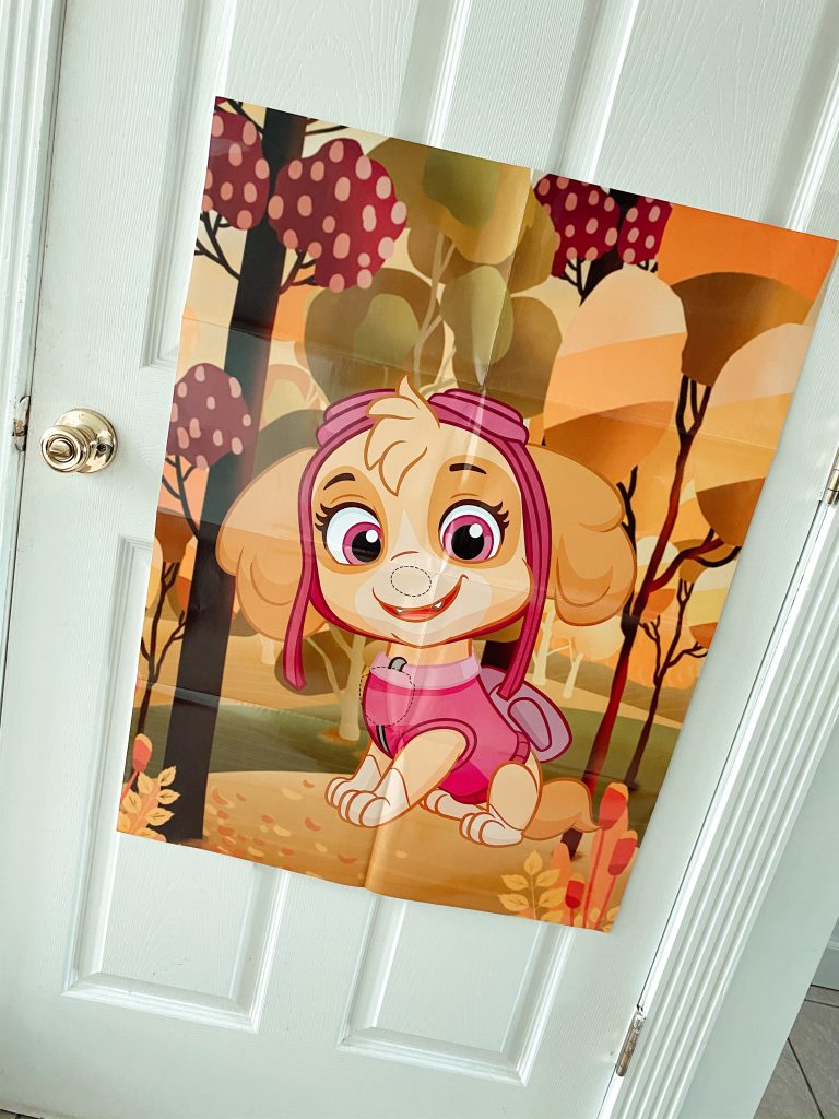 Pin the Tail on Skye Paw Patrol Party Game