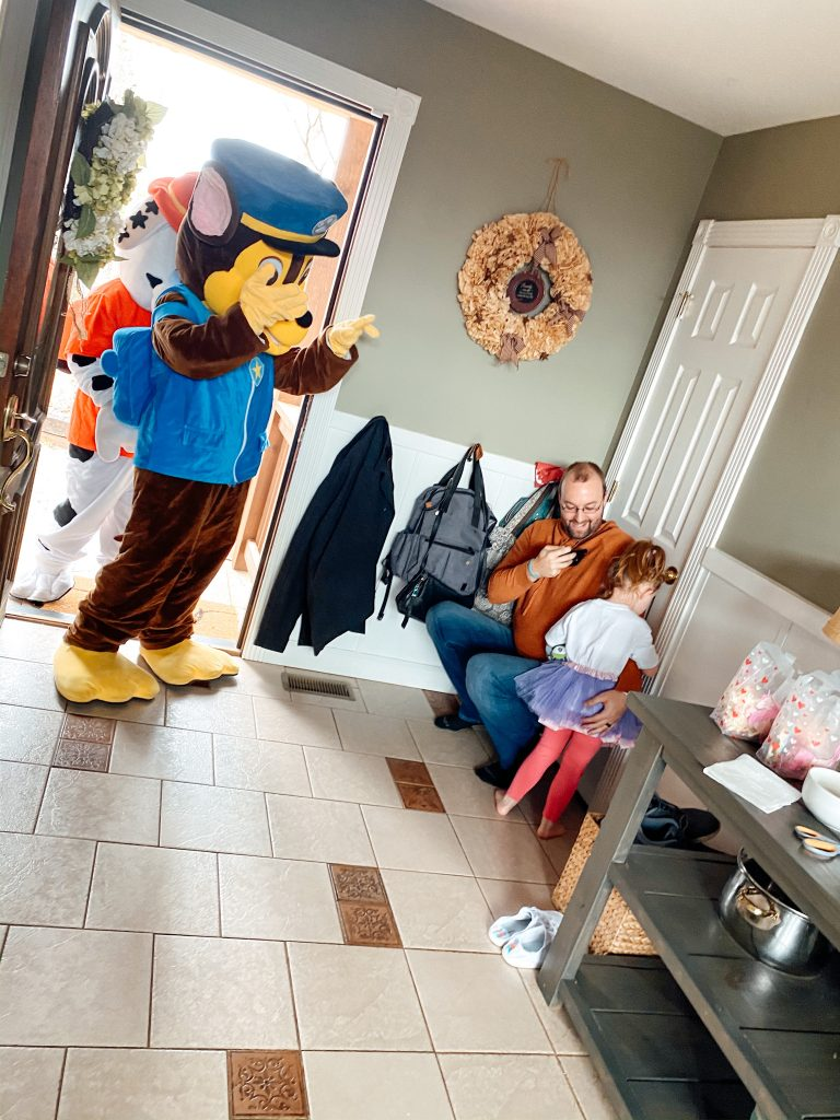 Paw Patrol Character visit for a Paw Patrol Birthday Party