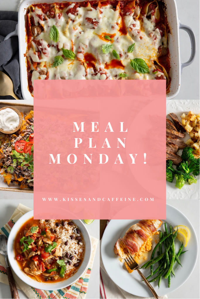 A full week of meal plan recipes for an easy meal plan!