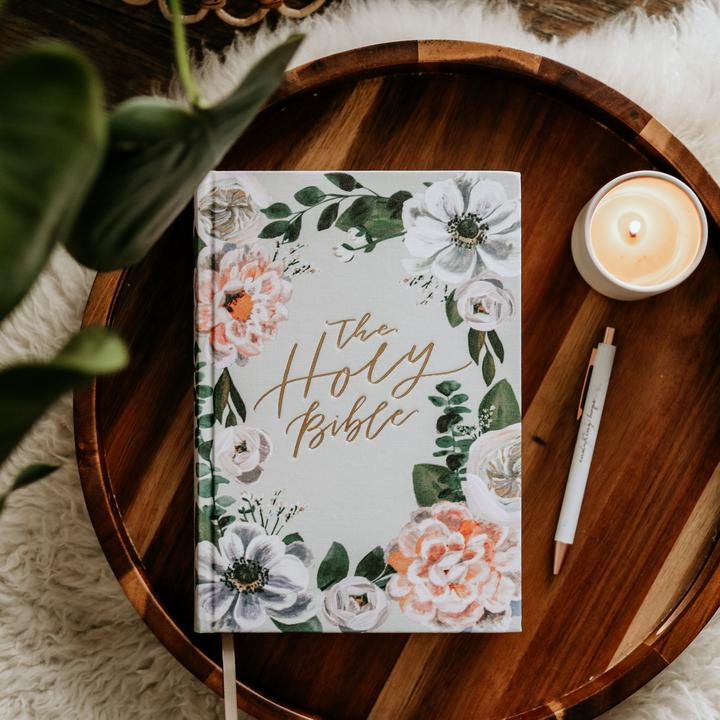 Floral Cover Journaling Bible
