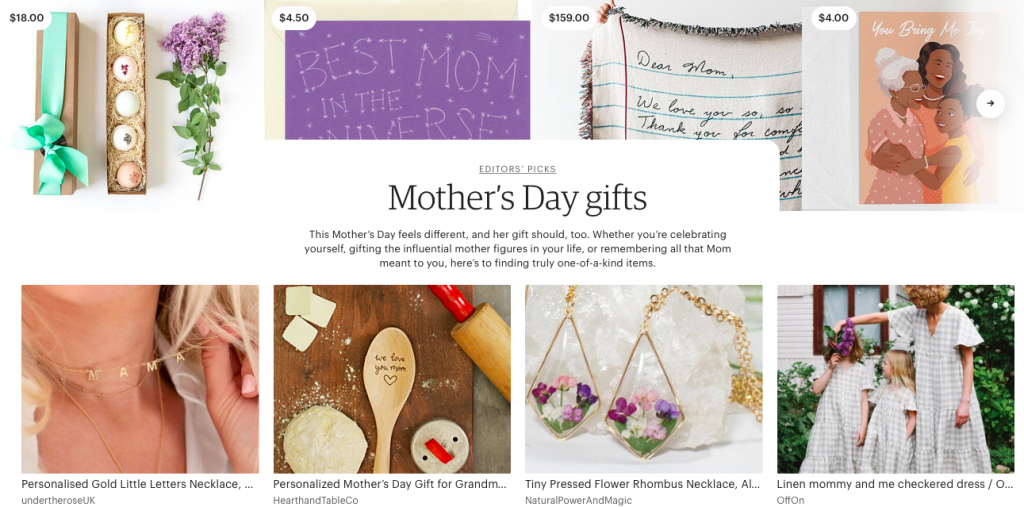 Etsy Mother's Day Gifts