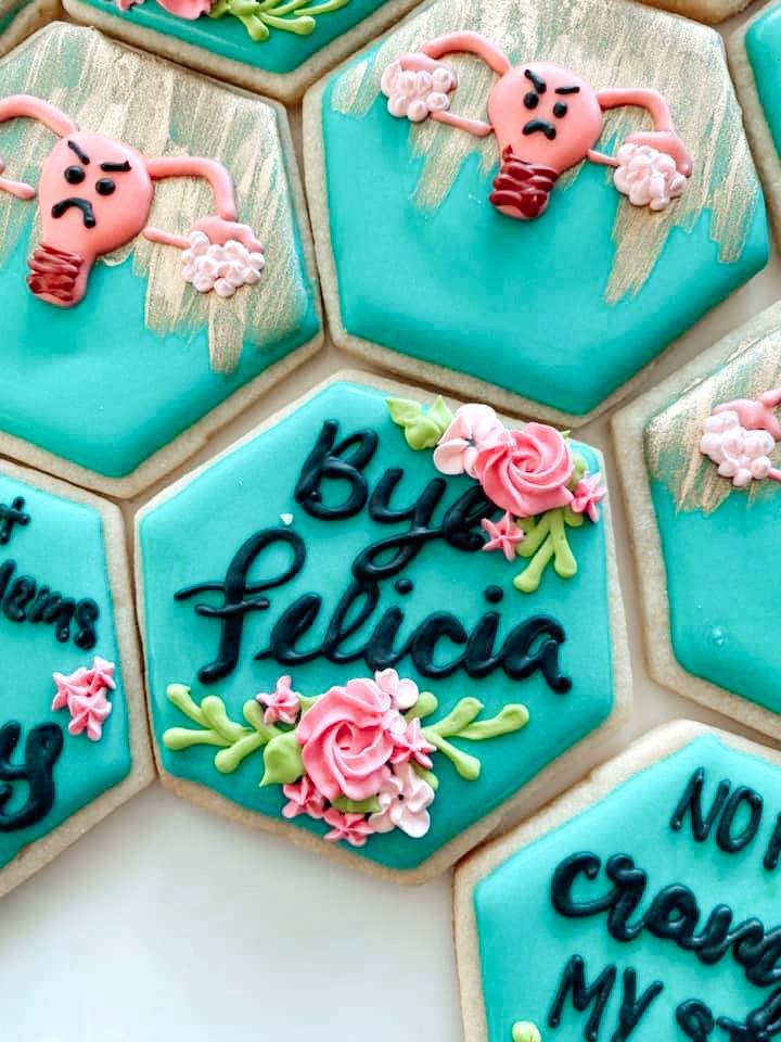 Bye Felicia Hysterectomy Sugar cookie