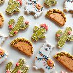 The cutest Llama, taco and cactus decorated sugar cookies