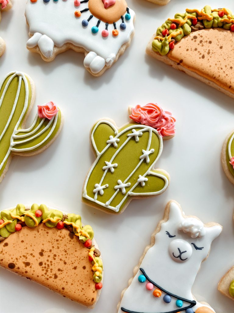 The cutest cactus decorated sugar cookies