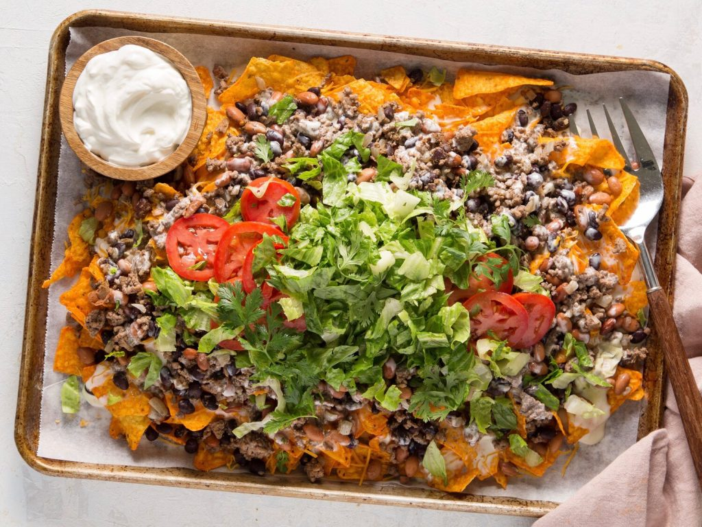 Beef Nachos with Queso Sauce