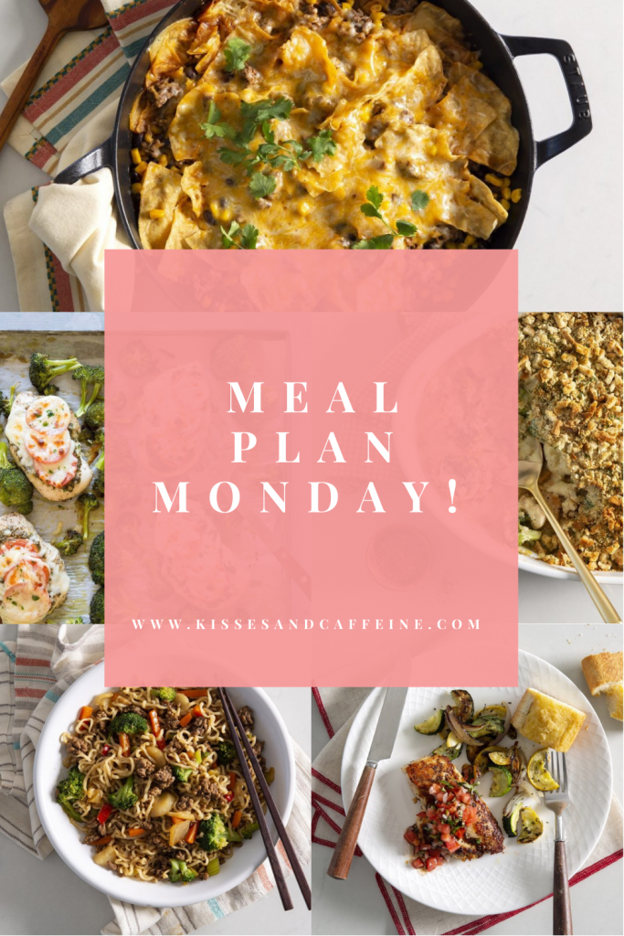 This week's meal plan, complete with grocery lists!