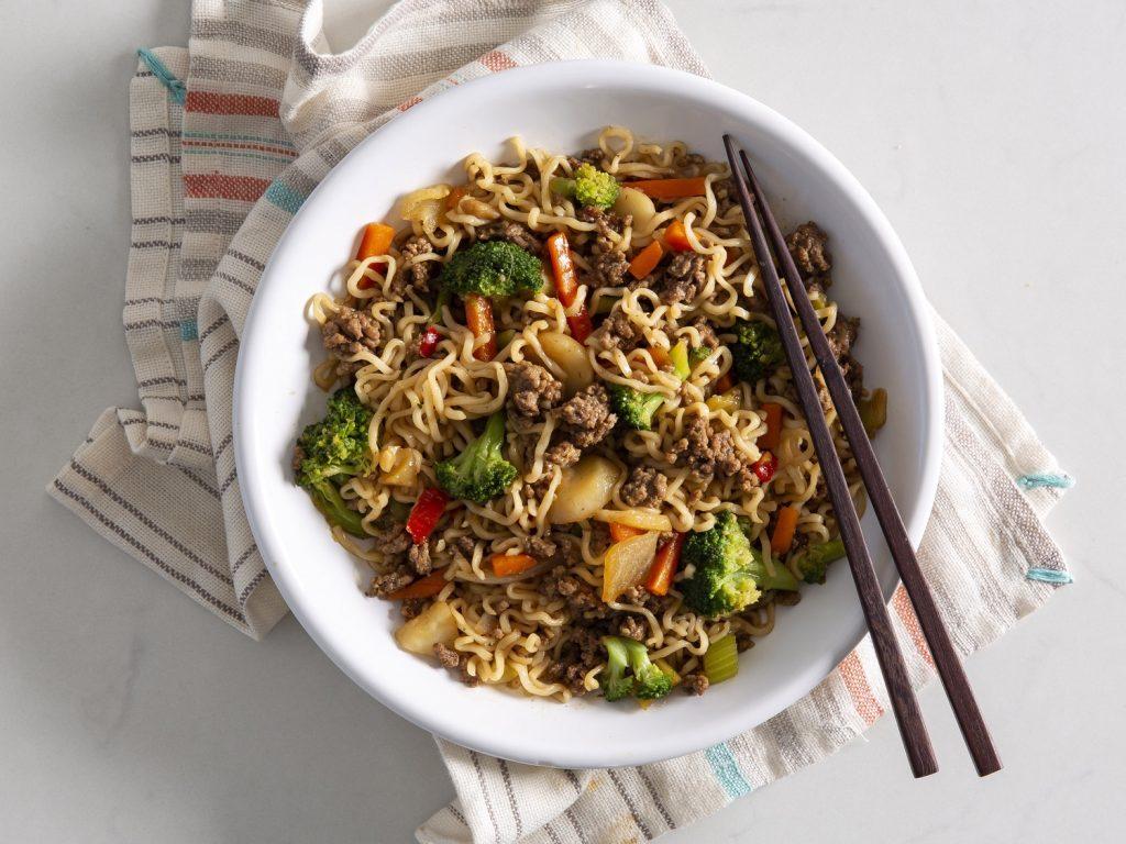 Beef Ramen NoodlesSesame-Ginger Salad