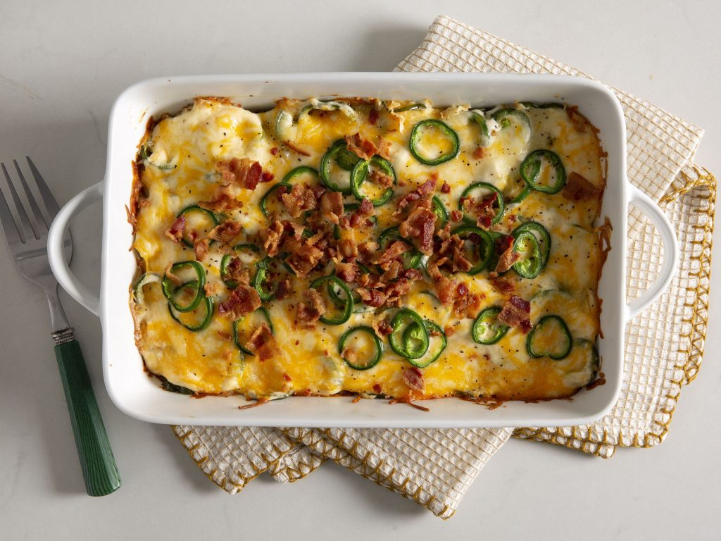 Low-Carb Jalapeño Popper Chicken Casserole withGourmet Greens with Oranges
