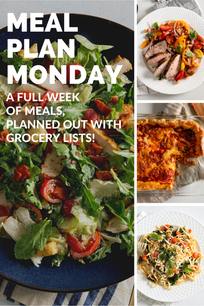 Weekly Meal Plans with grocery lists