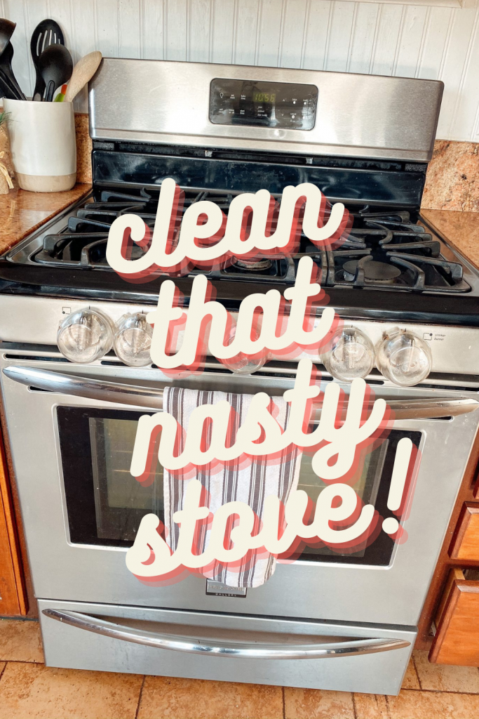 How to clean a nasty stove