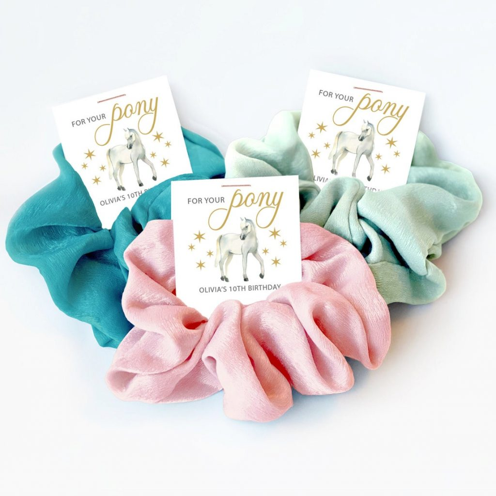 Horse Party Favors for Girls, Scrunchie Hair Tie Favor