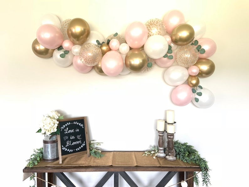Pink Blush and White Balloon Garland Kit