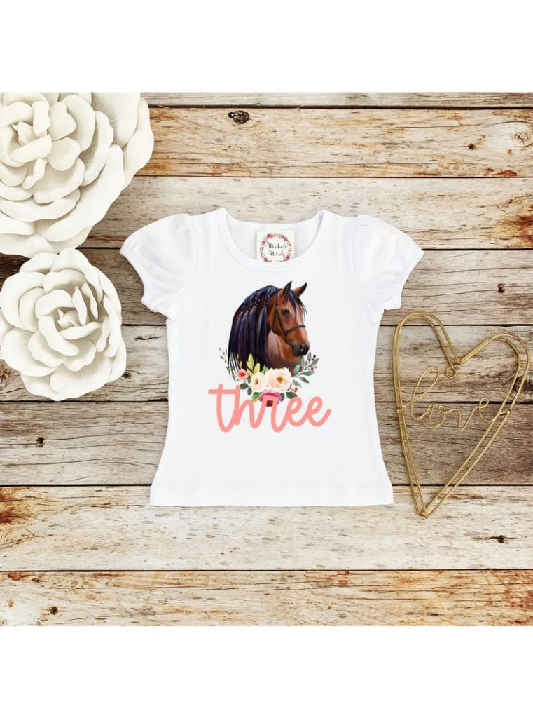 Horse Third Birthday Shirt