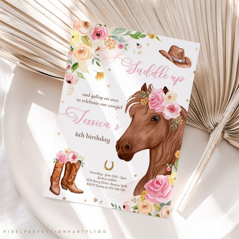 Horse Party Invitation