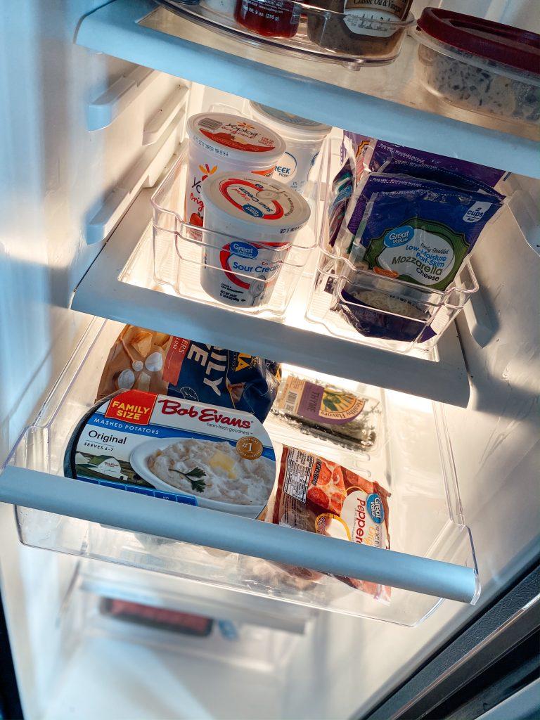 Refrigerator organization bins