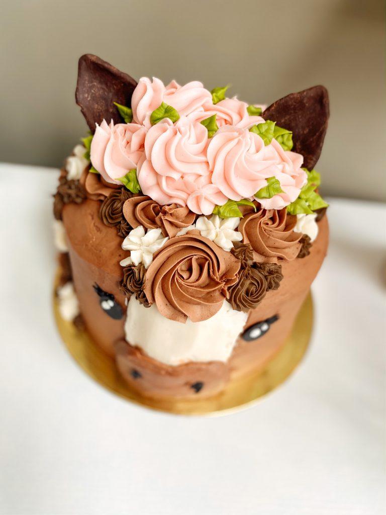 Pretty Horse Birthday Cake