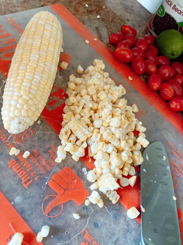 Fresh corn, cut off of the cob