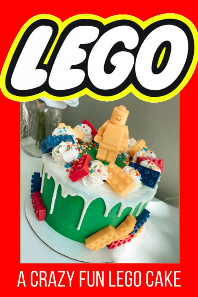 A Super Fun LEGO cake