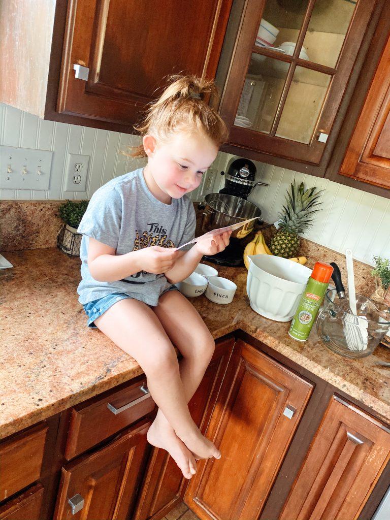 Kids doing Foodstirs activity kits