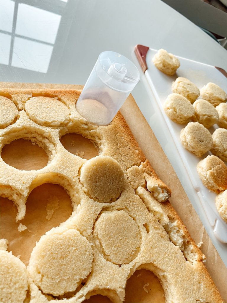 Cake Rounds for Unicorn Treat pops