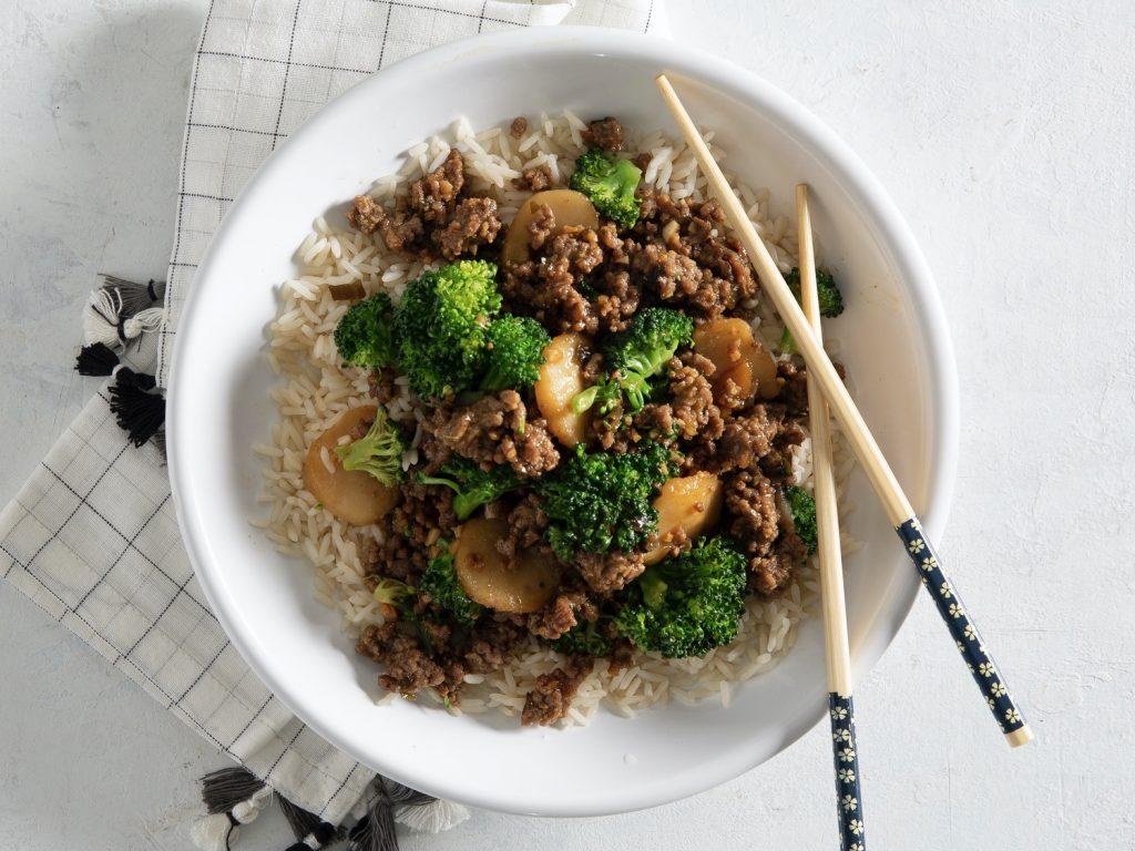 Teriyaki Ground Beef and Broccoli