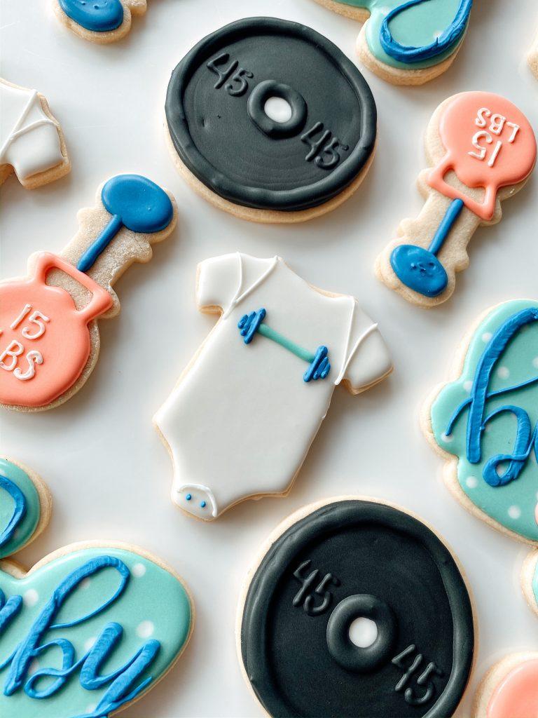 Onesie Crossfit Baby Shower Cookies