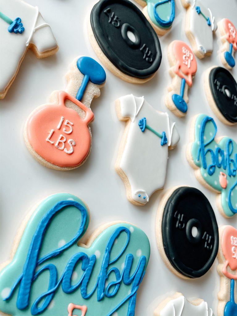 Crossfit Baby Shower Cookies
