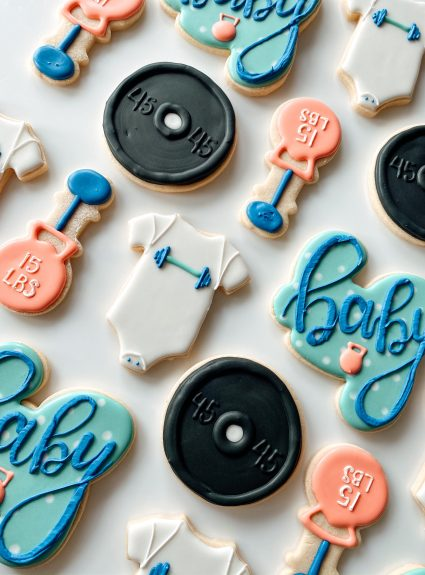 The Cutest Crossfit Baby Shower Cookies!