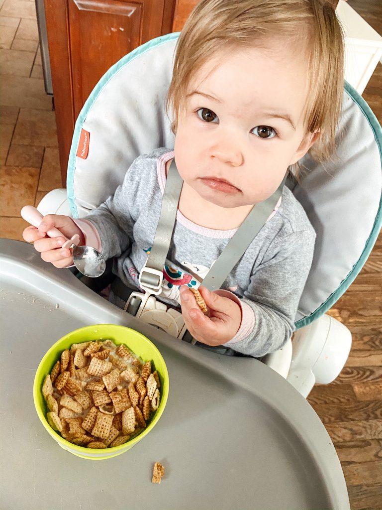 Baby Using Grabease Stainless Steel Baby Utensils