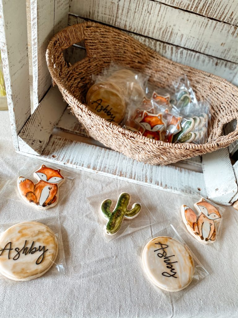 Southwestern Fox and Cactus Sugar Cookies