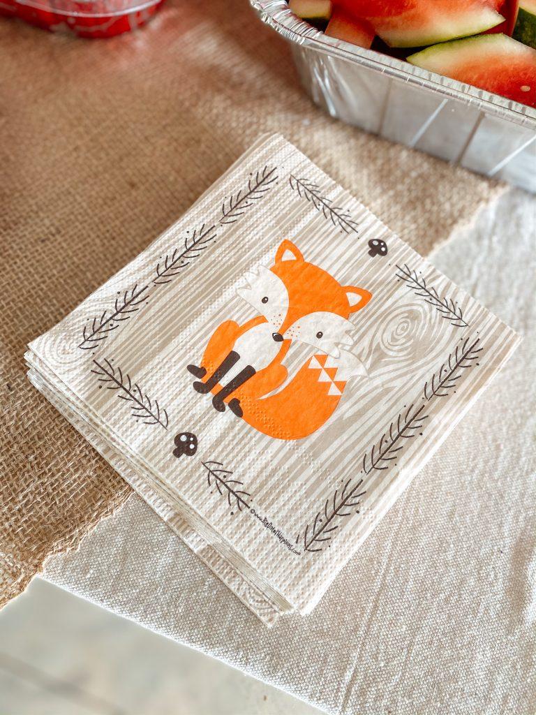 Fox Baby Shower Napkins