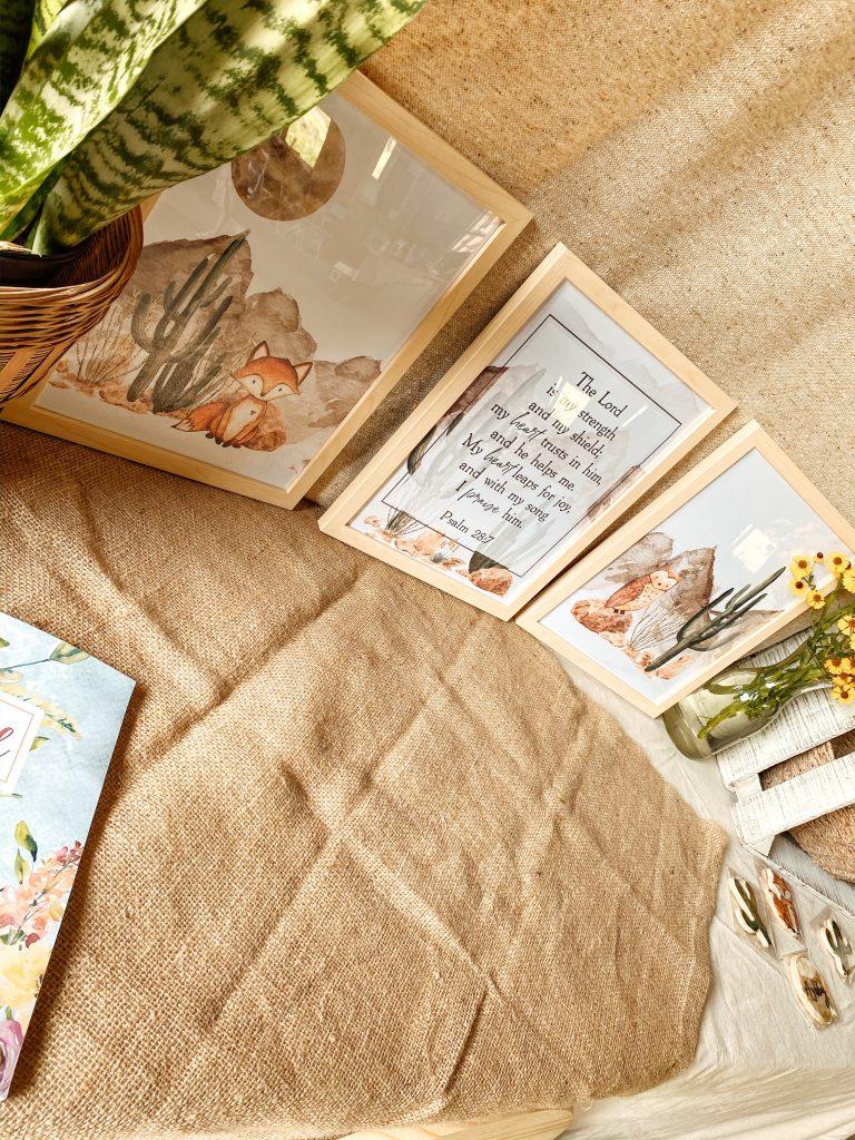 Watercolor Fox Nursery Prints