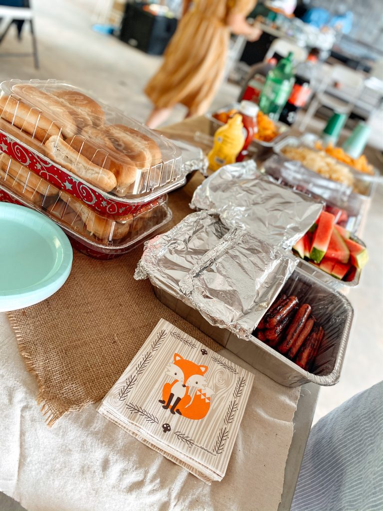 Cookout Baby Shower Food