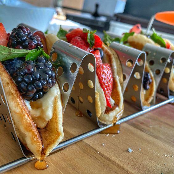 GRIDDLE GIRL Breakfast Pancake Tacos
