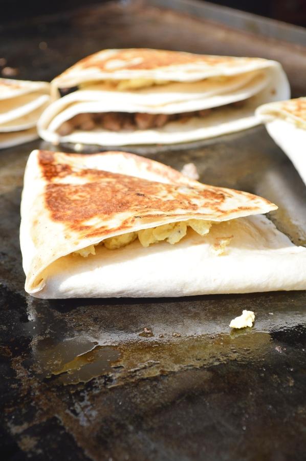 Blackstone Folded Breakfast Quesadillas