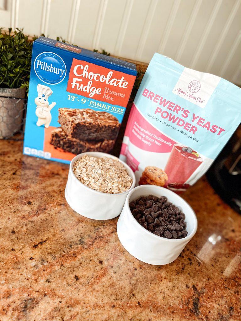 Lactation Brownie Ingredients