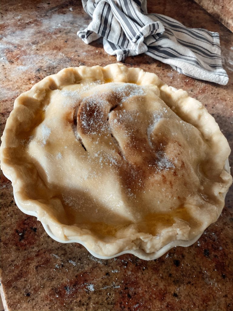 Apple Pie Ready to go into the oven